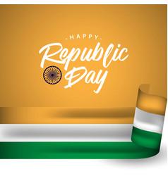 Happy india republic day template design vector