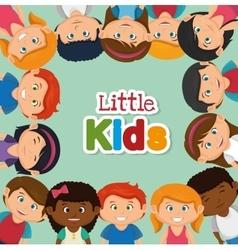 happy little kids design vector image