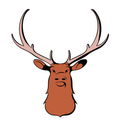 head of deer icon cartoon vector image