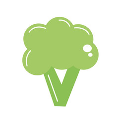 Healthy broccoli vegetables and vegan food vector