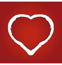 heart made of red ragged paper vector image