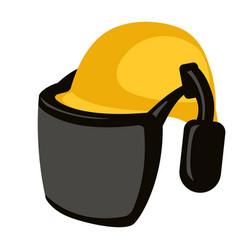 Helmet woodcutter vector