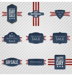Independence Day patriotic Banners Set vector