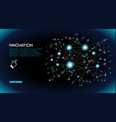 innovations systems connecting vector image