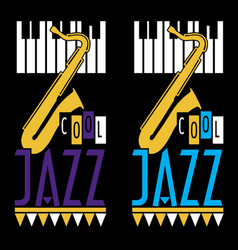 jazz music design vector image
