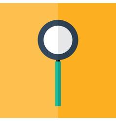 Loupe icon over orange vector