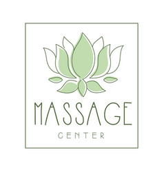 Massage center logo symbol vector