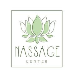 Massage center logo symbol vector