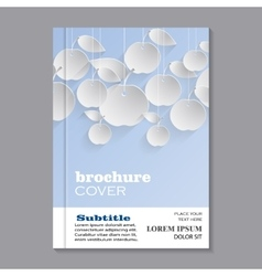 Modern template for brochure vector image