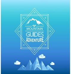 Mountain emblem vector
