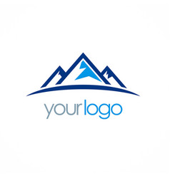 mountain triangle logo vector image