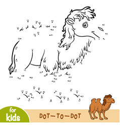 Numbers game game for children two-humped camel vector