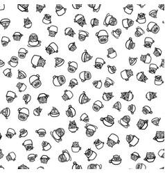 Owls hand drawn pattern vector
