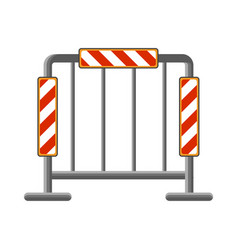 Pattern of road fencing with reflectors vector