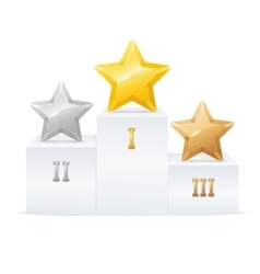 Pedestal Star Award Set vector image