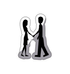 people in love couple icon vector image