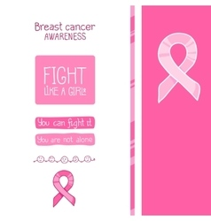 Pink ribbon international symbol of breast cancer vector image