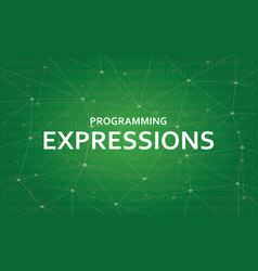 Programming expressions concept white vector
