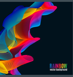 Rainbow lines backgroun vector