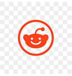 reddit social media icon design template vector image