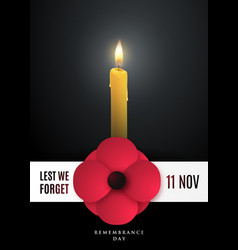 Remembrance day concept poster vector