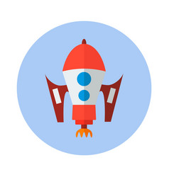 Rocket flat icon rocket icon i vector