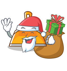 santa with gift dustpan character cartoon style vector image