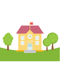 school building in flat style school building in vector image