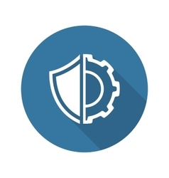 Security Settings Icon Flat Design vector image