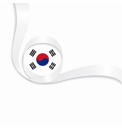 south korean wavy flag background vector image