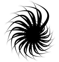 Spiral volute snail shape element rotating vector