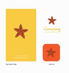 star fish company logo app icon and splash page vector image