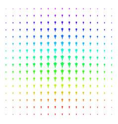 Starting star shape halftone spectrum pattern vector