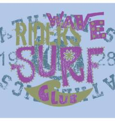 Surf club vector