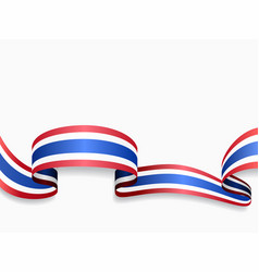 thai flag wavy abstract background vector image