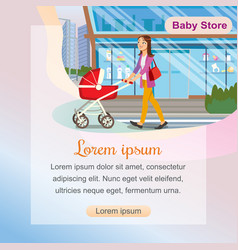 The concept purchases children goods in baby store vector