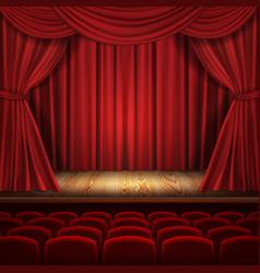 Theater concept classic scene vector