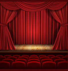 Theater concept classic scene with vector