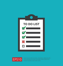 To do list or planning icon in flat style concept vector