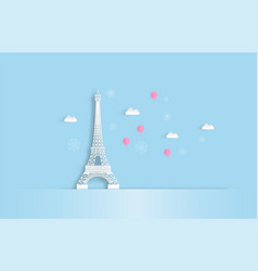 travel in paris with pink balloon vector image