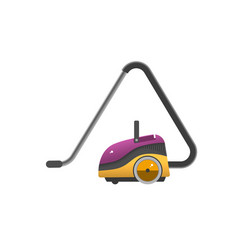 vacuum cleaner icon isolated on white electrical vector image