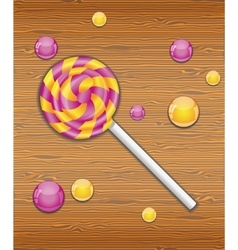 Violet and yellow candy vector