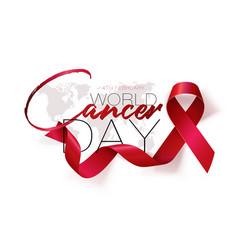 world cancer day concept lavender ribbon vector image