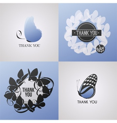 Butterfly - Collection of design elements vector image vector image