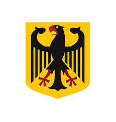 coat of arms of germany icon flat style vector image