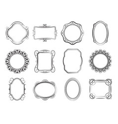 hand drawn square and photo frames blank vector image vector image