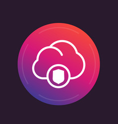 secure cloud icon vector image vector image