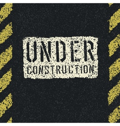 under construction sign background vector image