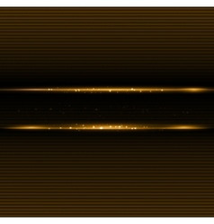 Abstract dark background with gold color light vector image vector image