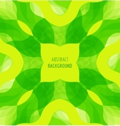 Abstract green waves background with banner vector image